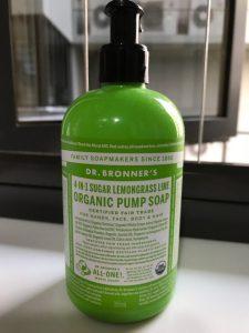 Dr Bronner's 4-in-1 organic pump soap